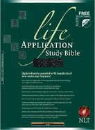 NLT Life Application Study Black (Red Letter Edition) Genuine Leather