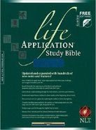 NLT Life Application Study Navy Indexed (Red Letter Edition) Imitation Leather