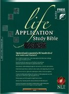 NLT Life Application Study Black Indexed (Red Letter Edition) Genuine Leather