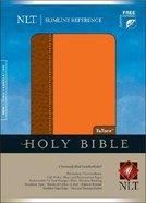NLT Slimline Reference Tutone Orange/Brown (Red Letter Edition) Imitation Leather