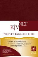 NLT KJV People's Parallel Bible Burgundy (Black Letter Edition) Imitation Leather