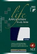 NLT Life Application Study Personal Size Navy/Silver Imitation Leather