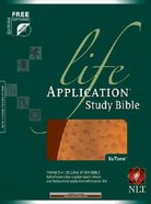 NLT Life Application Study Bible Bonded Tutone Brown/Ostrich Tan (Red Letter Edition) Bonded Leather