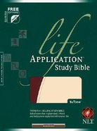 NLT Life Application Study Bible Bonded Tutone Burgundy/Cream (Red Letter Edition) Bonded Leather
