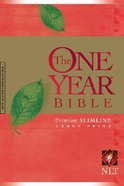 NLT One Year Bible Premium Slimline Large Print (Black Letter Edition) Paperback