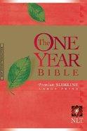 NLT One Year Bible Premium Slimline Large Print (Red Letter Edition) Hardback