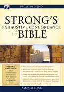 Strong's Exhaustive Concordance of the Bible (Incl Cd-rom) Hardback
