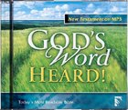 God's Word Heard Audio New Testament MP3 CD