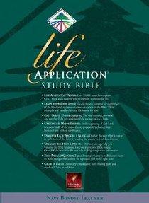 NLT Life Application Study Bible (Navy Indexed)