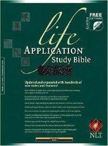 NLT Life Application Study Bible Black Leatherlike
