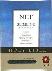 NLT Slimline Reference Navy (Red Letter Edition)