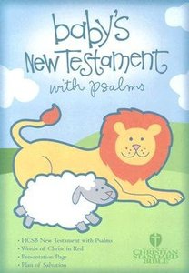 HCSB Babys New Testament With Psalms Light Blue (Red Letter Edition)