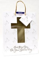 Gift Bag Medium: Confirmation/Communion (Incl Tissue Paper & Gift Tag)