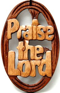 Wooden Hanger: Praise the Lord