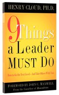 9 Things a Leader Must Do Hardback