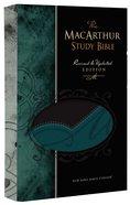 NKJV Macarthur Study Bible Black/Aqua Premium Imitation Leather