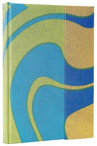 Journal With Magnetic Flap: Textile Swirls