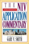 Hosea/Amos/Micah (Niv Application Commentary Series) Hardback
