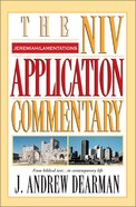 Jeremiah/Lamentations (Niv Application Commentary Series) Hardback