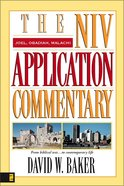 Joel/Obadiah/Malachi (Niv Application Commentary Series)