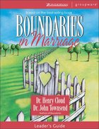 Boundaries in Marriage (Leader's Guide) Paperback