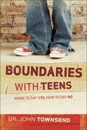Boundaries With Teens Hardback