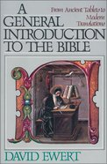 A General Introduction to the Bible Paperback