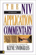 Ephesians (Niv Application Commentary Series) Hardback