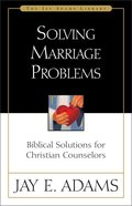 Solving Marriage Problems Paperback