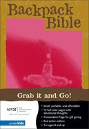 NIV Backpack Bible Embossed Cross Fresh Fuchsia Imitation Leather