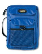 Bible Cover Adventure Bible Blue Nylon With Mesh Pocket