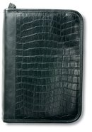 Bible Cover Alligator Leather-Look Black Large Bible Cover
