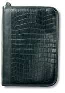 Bible Cover Alligator Leather-Look Black Extra Large