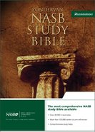 NASB Zondervan Study Bible Black (Red Letter Edition) Bonded Leather