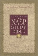 Zondervan NASB Updated Study Bible Black Indexed (Red Letter Edition)