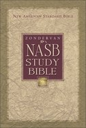 Zondervan NASB Updated Study Bible Navy Indexed Bonded Leather