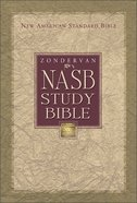 Zondervan NASB Updated Study Bible Black Indexed Genuine Leather