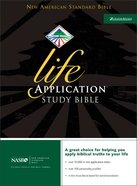 NASB Updated Life Application Bible Black Indexed (Black Letter Edition)