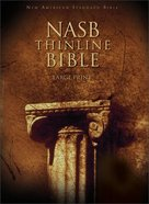 NASB Large Print Thinline Text Edition (Red Letter Edition) Hardback