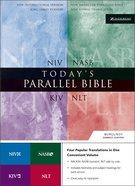 Niv/Nlt/Kjv/Nasb Todays Parallel Bible Updated Burgundy Bonded Leather