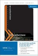 NIV Revolution Teen Bible Black/Orange Duo-Tone (Guys) Imitation Leather
