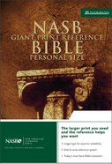 NASB Updated Giant Print Reference Black Indexed Personal Size Bonded Leather