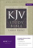 KJV Study Bible Large Print Edition Black Bonded Leather