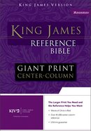 KJV Giant Print Center-Column Reference Navy Indexed Bonded Leather