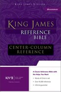 KJV Reference Bible Black Bonded Leather