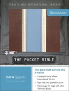 TNIV Pocket Bible Burgundy/Cream/Light Blue Imitation Leather