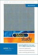 NIV Teen Study Bible Silver Italian Duo-Tone Imitation Leather