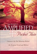 Amplified Pocket Thin New Testament Red