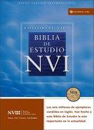 Nvi Biblia De Estudio Spanish Nvi Study Bible Black Indexed Imitation Leather