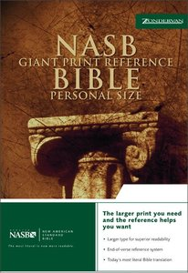 NASB Updated Giant Print Reference Burgundy Indexed Personal Size
